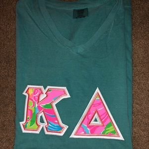 Kappa Delta Stitched Letter Shirt